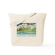 Neptune's Horses Tote Bag