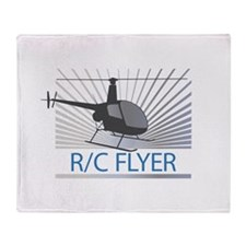 Radio Control Flyer Helicopter Throw Blanket