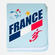 France World Cup Soccer baby blanket