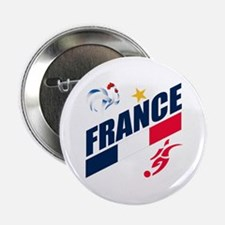 """France World Cup Soccer 2.25"""" Button"""