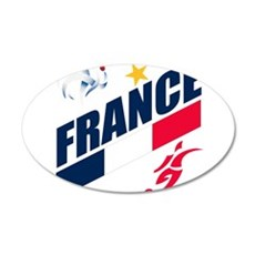 France World Cup Soccer 22x14 Oval Wall Peel