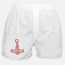 Red Cyber Thors Hammer Boxer Shorts