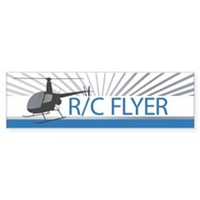 Radio Control Flyer Helicopter Bumper Bumper Sticker