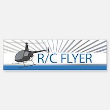 Radio Control Flyer Helicopter Bumper Bumper Sticker