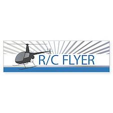 Radio Control Flyer Helicopter Bumper Sticker