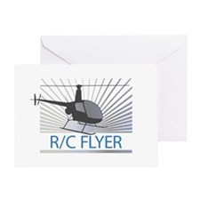 Radio Control Flyer Helicopter Greeting Card