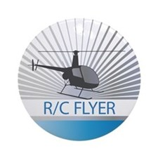 Radio Control Flyer Helicopter Ornament (Round)