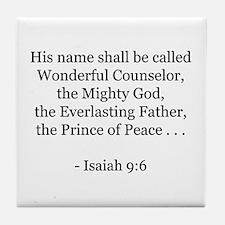 Isaiah 9:6 Tile Coaster