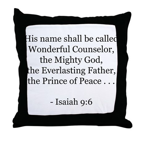 Isaiah 9:6 Throw Pillow