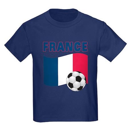 France World Cup Soccer Kids Dark T-Shirt