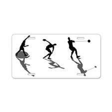 Athletics Field Events Aluminum License Plate