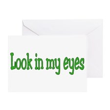 Unique One eye Greeting Card