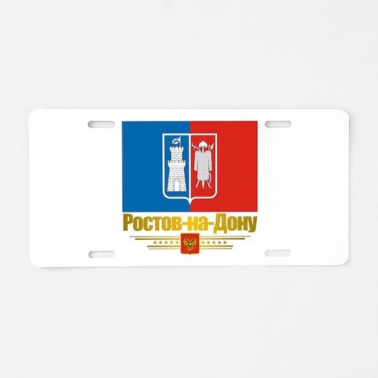 Rostov-on-Don Flag Aluminum License Plate