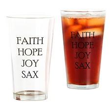 FAITH HOPE JOY SAX Drinking Glass