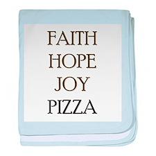FAITH HOPE JOY PIZZA baby blanket