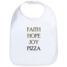 FAITH HOPE JOY PIZZA Bib
