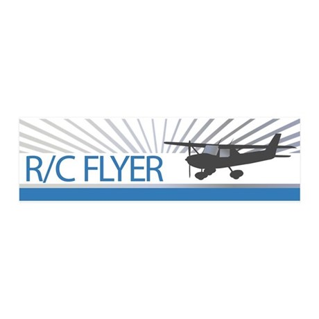 RC Flyer Hign Wing Airplane 21x7 Wall Peel