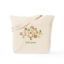 think green enviro tree Tote Bag