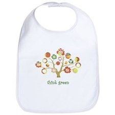 think green enviro tree Bib
