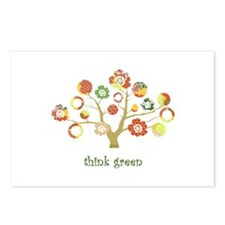 live green enviro tree Postcards (Package of 8)