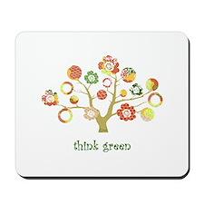 live green enviro tree Mousepad