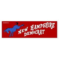 New Hampshire Democrat Bumper Bumper Sticker