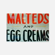 NYC: Malteds and Egg Creams Rectangle Magnet