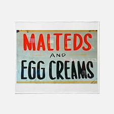 NYC: Malteds and Egg Creams Throw Blanket