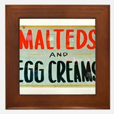 NYC: Malteds and Egg Creams Framed Tile