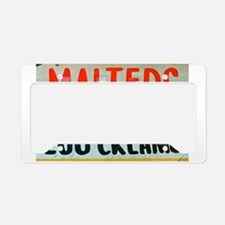 NYC: Malteds and Egg Creams License Plate Holder