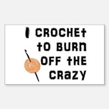 Crazy Crochet Decal