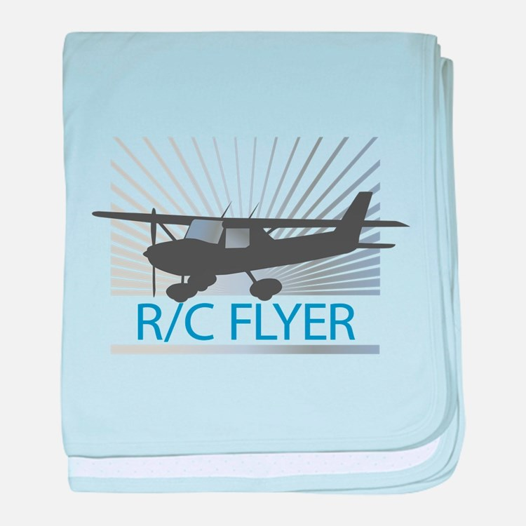 RC Flyer Hign Wing Airplane baby blanket