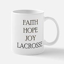 FAITH HOPE JOY LACROSSE Mug