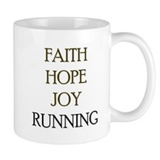 FAITH HOPE JOY RUNNING Mug