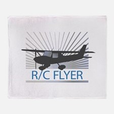RC Flyer Hign Wing Airplane Throw Blanket