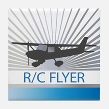 RC Flyer Hign Wing Airplane Tile Coaster