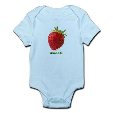 funny sweet strawberry Infant Bodysuit