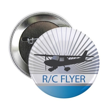 "RC Flyer Hign Wing Airplane 2.25"" Button (10 pack)"