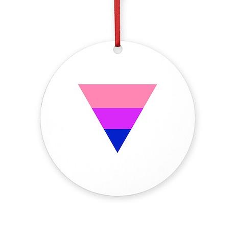 bi triangle Ornament (Round)