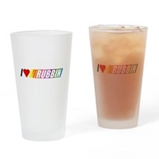 I Love Rubbin Drinking Glass