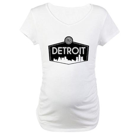 Retro Detroit Maternity T-Shirt