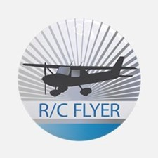 RC Flyer Hign Wing Airplane Ornament (Round)