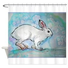 Snowshoe rabbit, Wildlife art! Shower Curtain
