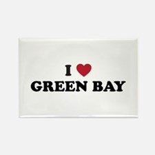 I Love Green Bay Wisconsin Rectangle Magnet