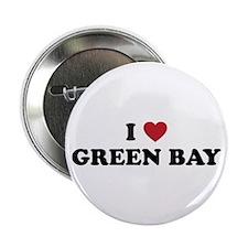 "I Love Green Bay Wisconsin 2.25"" Button"