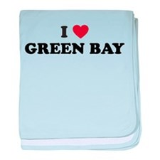 I Love Green Bay Wisconsin baby blanket