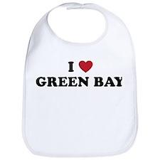 I Love Green Bay Wisconsin Bib