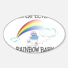 EXPECTING RAINBOW GIRL.png Sticker (Oval)