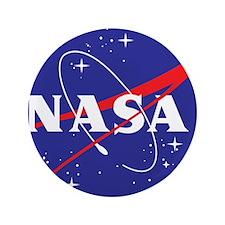 """NASA Logo 3.5"""" Button"""