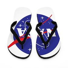 NASA Logo Flip Flops